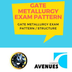 GATE Metallurgy (MT) Exam/Test/Paper Pattern or Structure