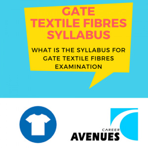 What Is The Syllabus For GATE Textile Fibres (TF) Examination